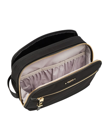 Erie Double-Zip Cosmetic Bag