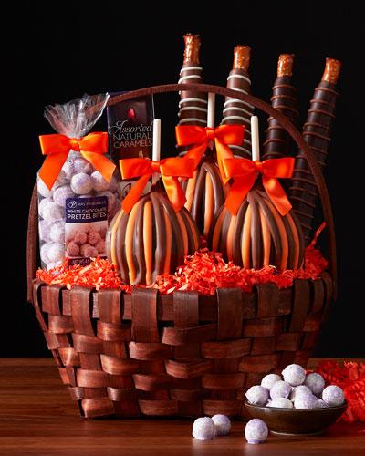 Classic Halloween Apple Gift Basket