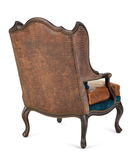 Aries Leather Wing Chair