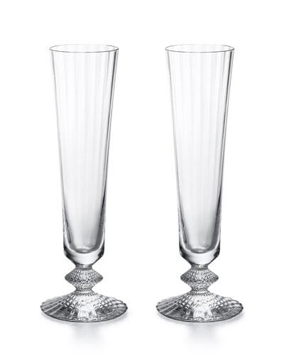 Mille Nuits Champagne Flutes  Set of 2
