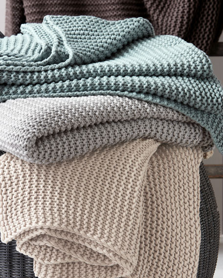Orla Cotton-Wool Throw Blanket