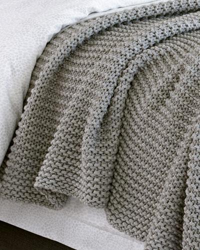 Orla Cotton-Wool Throw Blanket