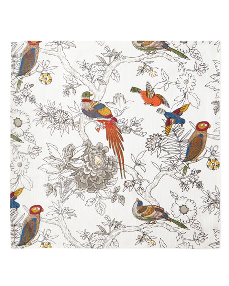 Bird & Floral Napkins, Set of 4