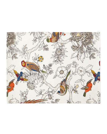 Bird & Floral Placemats, Set of 4