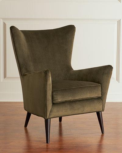 Bryce Velvet Wing Chair