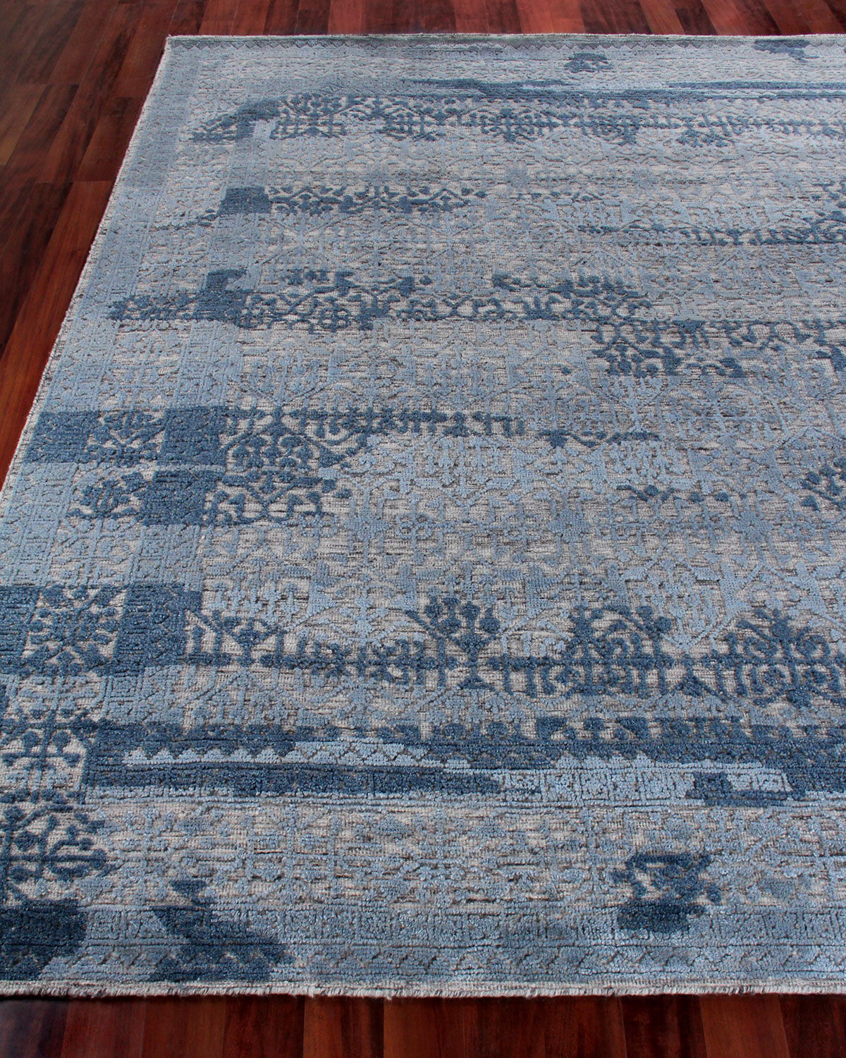 Exquisite Rugs Baker Hand Knotted Wool Area Rug 6 X 9 Neiman Marcus