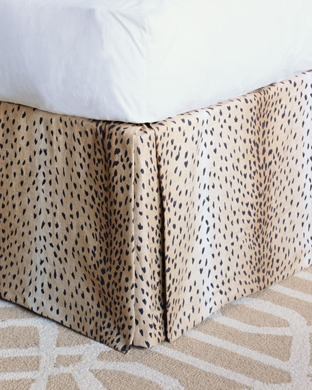 Eastern Accents Sloan Animal Print Queen Dust Skirt