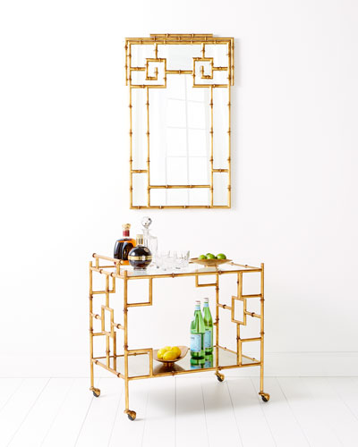 Laken Gold & Glass Bar Cart