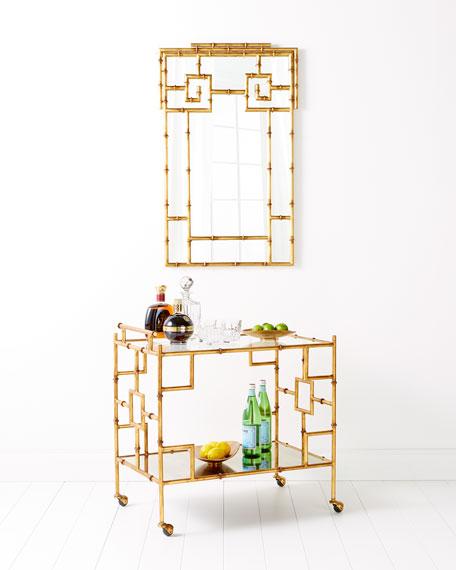 Laken Gold & Glass Bar Cart