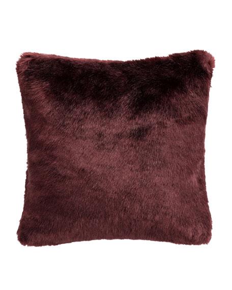 Amarah Faux-Fur Square Decorative Pillow