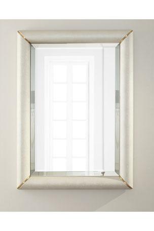 Brass Shagreen Mirror