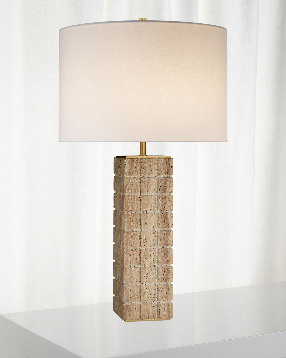 Kelly Wearstler Pietra Large Hand Carved Table Lamp Neiman Marcus