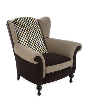 Mackenzie Childs Underpinnings Studio Wing Chair