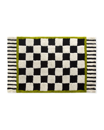Courtly Check Large Bath Rug