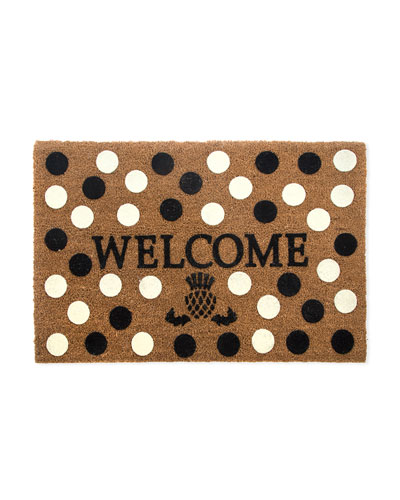 Welcome Dot Entrance Mat