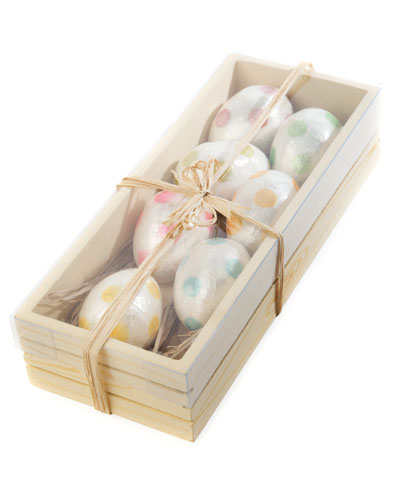Jelly Bean Egg Ornaments  Set of 7