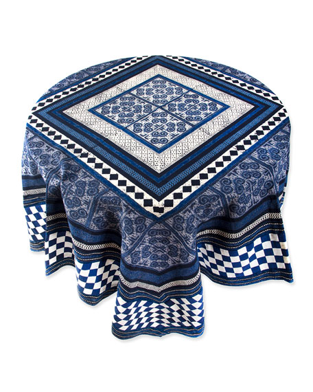 "MacKenzie-Childs Santorini Square Tablecloth, 54"""