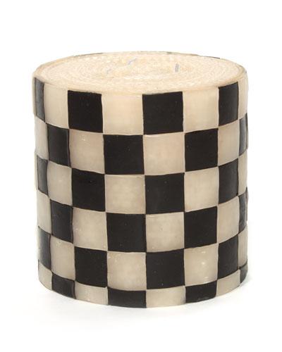 Checker Pillar Candle