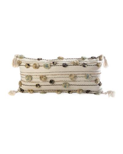 Go Go Pompom Lumbar Pillow