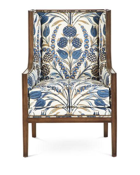 Ember Linen Accent Chair
