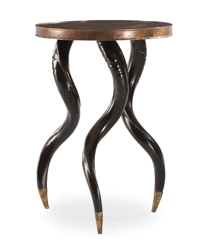 Ebony Chair Side Accent Table