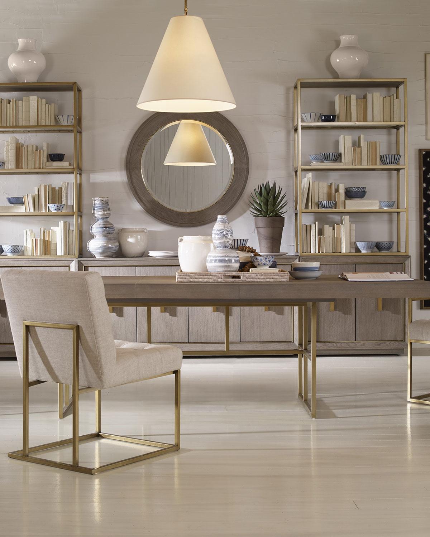 Century furniturekendall metal base dining table
