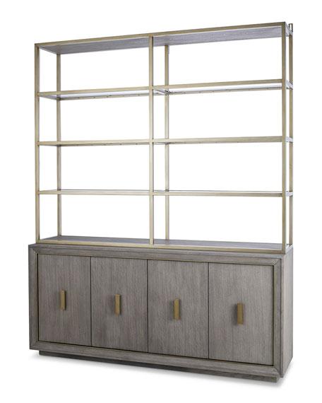 Century Furniture Kendall Metal & Glass Hutch