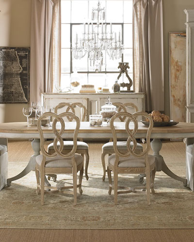 Madeline Double Pedestal Dining Table