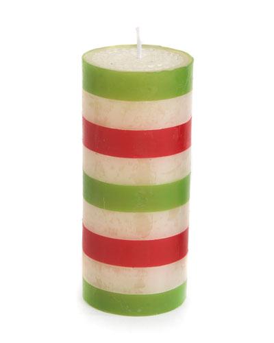 Bands Pillar Candle  6