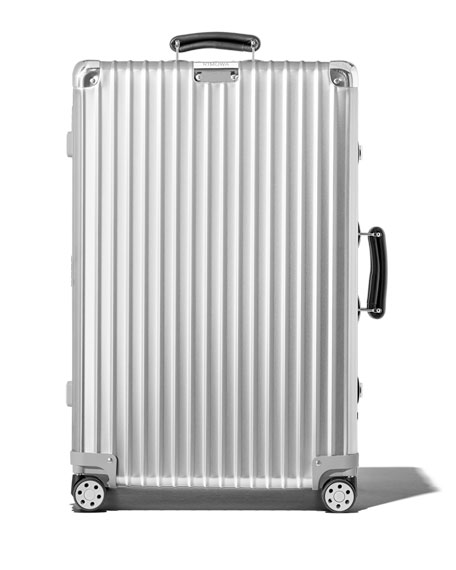 RIMOWA Classic Check-In M Spinner Luggage in Silver