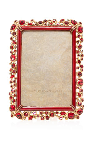 "Jay Strongwater Bejeweled Frame, 4"" x 6"""