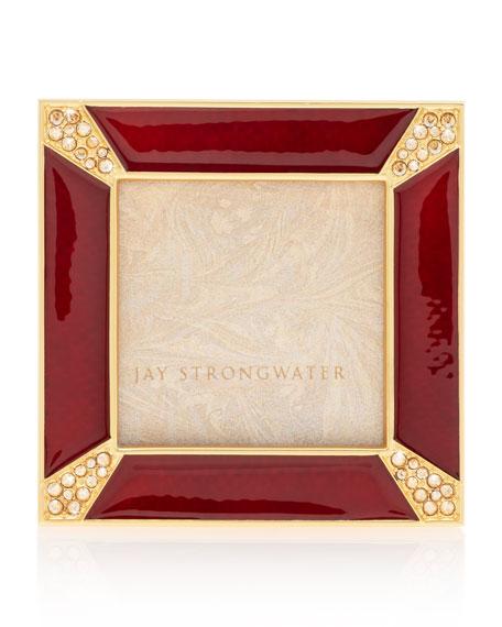 Crystal Pave Corner Square Frame