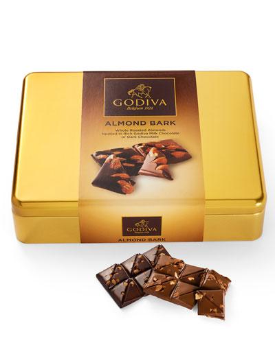 Milk Dark Chocolate Almond Bark Tin