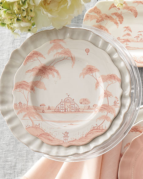 Juliska Country Estate Petal Pink Salad/Dessert Plate