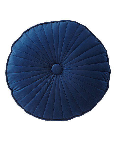 Sherry Kline Home Quilted Velvet Round Pillow