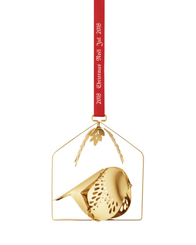 18k Gold-Plated Mobile Bird Christmas Ornament