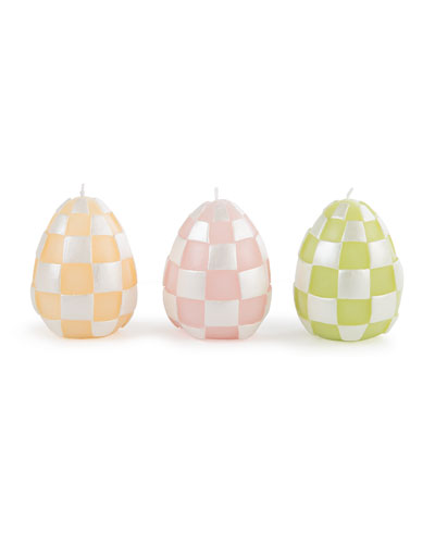 Egg Candles  Set of 3