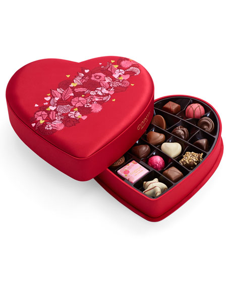 25-Piece Medium Fabric Heart Chocolate Box