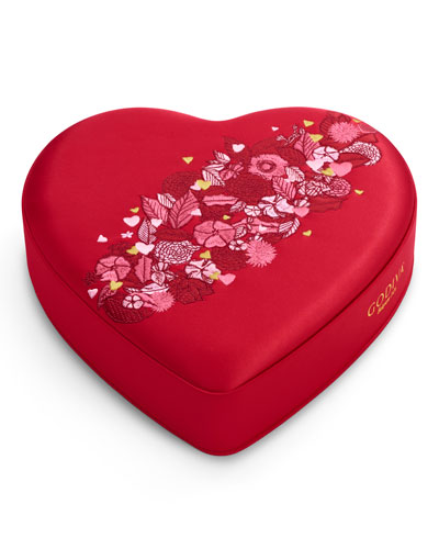 25-Piece Medium Fabric Heart Chocolate Box
