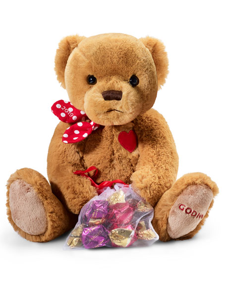 Limited Edition Plush Bear with G Chocolate Cubes
