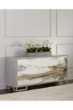 John-Richard Collection Inaka Rice Paper Dining Console