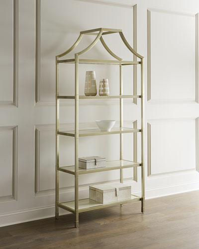 Bastien Stainless Steel Etagere