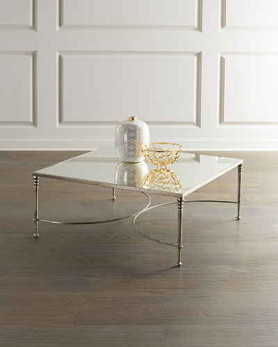 Orleans Silver Leaf Square Coffee Table