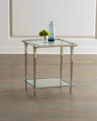 Napier Glass End Table