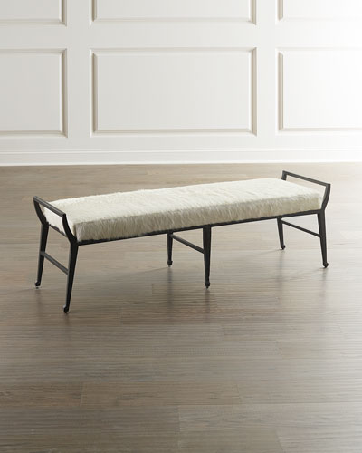 Manfield Hair-on-Hide Bench