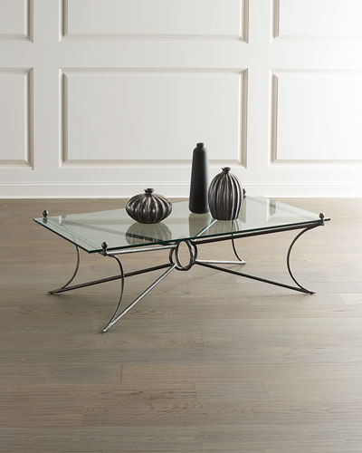 Cortland Iron & Glass Coffee Table