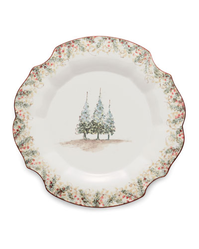 Natale Scalloped Charger/Platter