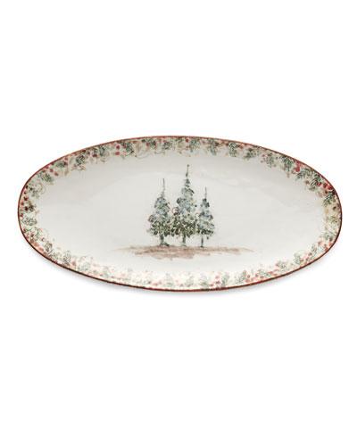 Natale Long Oval Platter