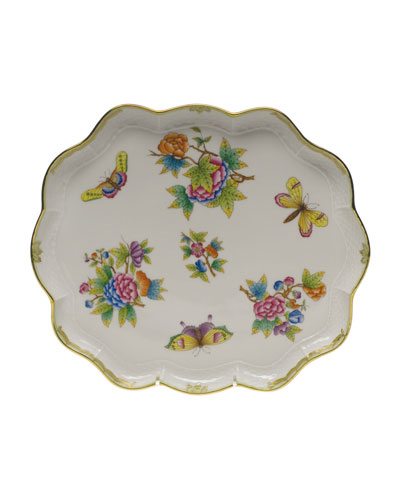 Queen Victoria Scalloped Tray