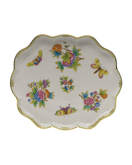 Herend Queen Victoria Scalloped Tray